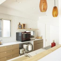 S邸・二人のベビーのために、安心で快適な住まい (オープンな対面式キッチン)