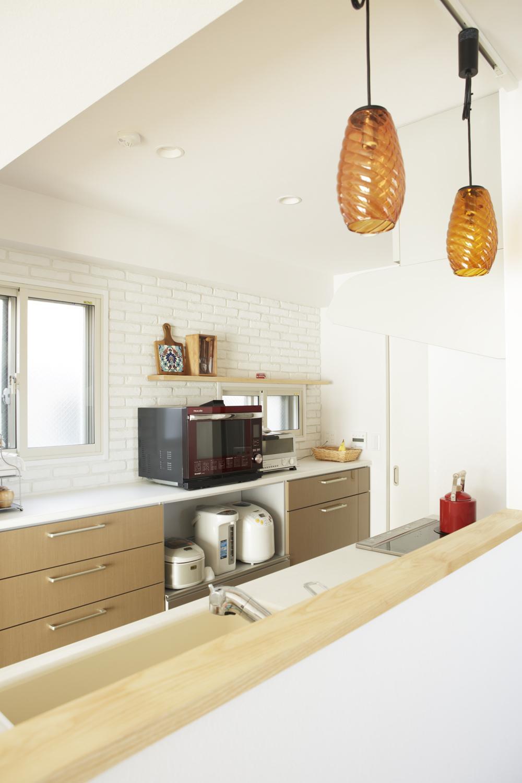 S邸・二人のベビーのために、安心で快適な住まいの部屋 オープンな対面式キッチン