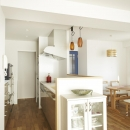 キッチン-奥に洗面室