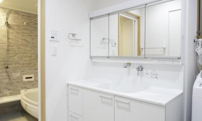 洗面・浴室|S邸・二人のベビーのために、安心で快適な住まい