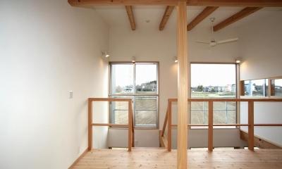 南面の大きな窓|Mーhouse 水戸