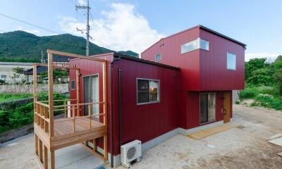 『志和堀の家』スキップフロアのある家