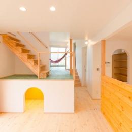 『志和堀の家』スキップフロアのある家 (セカンドリビングのある楽しい空間)