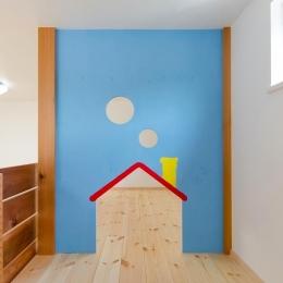 『志和堀の家』スキップフロアのある家 (子供部屋のロフトは遊び場に)