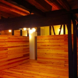 『江田島の家』築70年古民家のリノベーション (木の温もり感じるリビングダイニング)