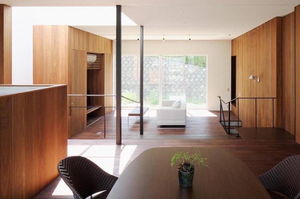 開放的なLD空間 (斜面に埋め込まれた家)