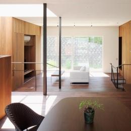 建築家 中渡瀬拡司の事例「斜面に埋め込まれた家」