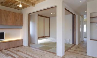 四季を楽しむ家 (畳コーナー-open)