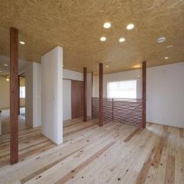 四季を楽しむ家 (2階オープンスペース)