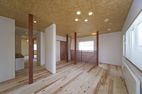 四季を楽しむ家の部屋 2階オープンスペース