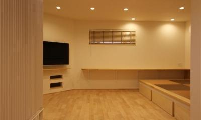 リビング・畳スペース|『Love House』こだわりの詰まった可愛らしい住まい