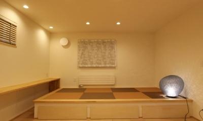 床下収納のある畳スペース|『Love House』こだわりの詰まった可愛らしい住まい