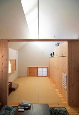 『Ka-house』家を巡る楽しさのある二世帯住宅 (親世帯-住居スペース)