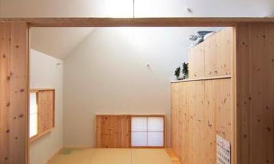 『ひとやまはん。』家を巡る楽しさのある完全分離二世帯住宅 (親世帯-住居スペース)
