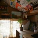 手造りの机・収納棚