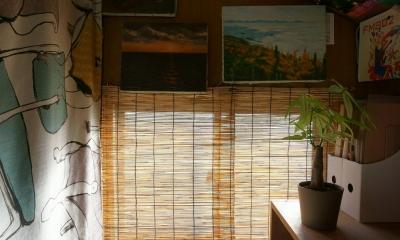 ベニア仕上げの内装|『屋根裏のアトリエ』限られた空間をアトリエにリノベ