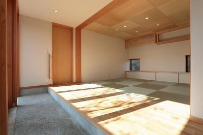 土間縁に面する和室 (集う家)