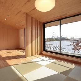 現代和風の寝室