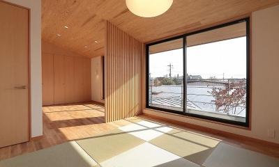 現代和風の寝室|集う家
