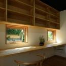 大屋根造りの家の写真 木の温もり感じる書斎