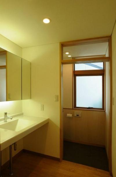 洗面・トイレ (大屋根造りの家)