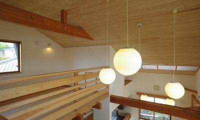 大屋根造りの家
