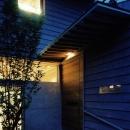 玄関アプローチ-夜景