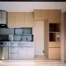 ステンレス×木材のキッチン
