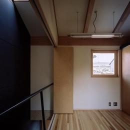 仕切り可能な2階ベッドルーム (『NSH』コンパクトにまとめられた温かな住まい)