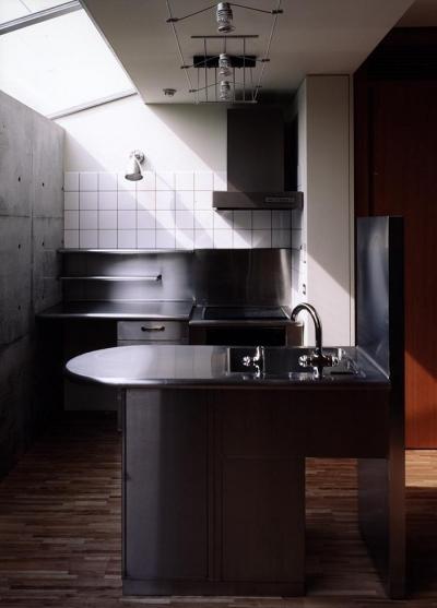 ステンレスキッチン-1 (『SMH』住まい手に優しいバリアフリー住宅)