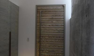 『HKH』優しい光の集まる木造2階建て住宅 (天窓から光が差す広々玄関)