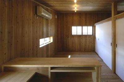 木に囲まれた2階寝室 (『der nostalgisch Bahnhof 』懐かしい駅舎のような住まい)