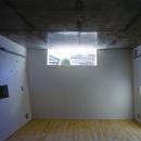 『subako』重厚感のあるコンクリート住宅の写真 高窓より光の差し込む子供部屋