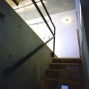 『subako』重厚感のあるコンクリート住宅の写真 コンクリート壁の階段
