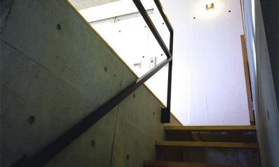 『subako』重厚感のあるコンクリート住宅 (コンクリート壁の階段)
