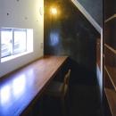 『subako』重厚感のあるコンクリート住宅の写真 家事スペース