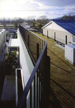 『subako』重厚感のあるコンクリート住宅 (眺望を満喫できる屋上庭園)