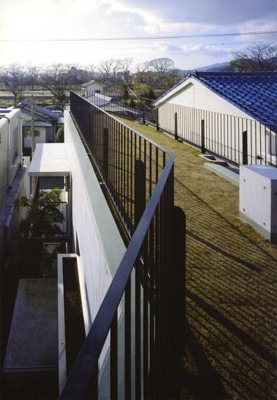 眺望を満喫できる屋上庭園 (『subako』重厚感のあるコンクリート住宅)