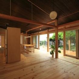 『黒天井の家』焼き杉を使用した落ち着きのある住まい