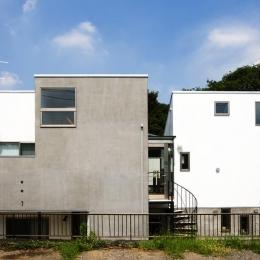 『O・S邸』コンパクトな二世帯住宅 (立体を組み合わせた二世帯住宅)