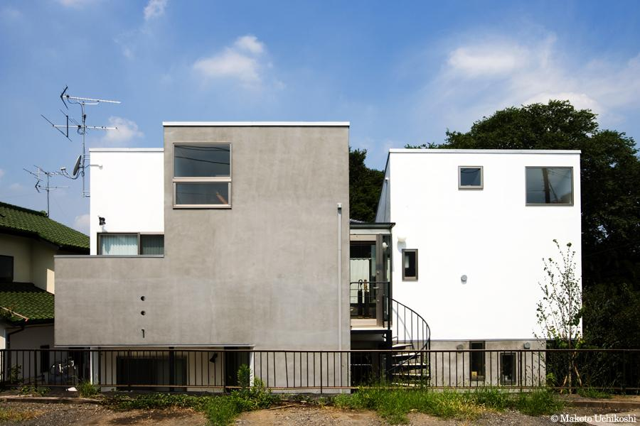 『O・S邸』コンパクトな二世帯住宅の写真 立体を組み合わせた二世帯住宅