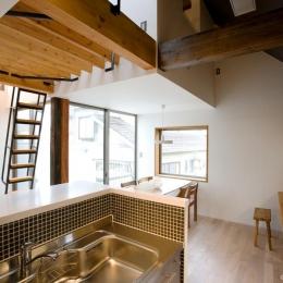 『O・S邸』コンパクトな二世帯住宅 (明るいダイニング・ワークスペース)