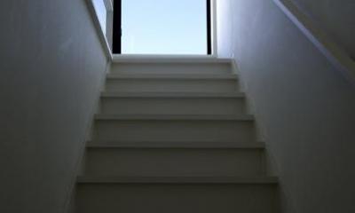 『I・M邸』光を共有する二世帯住宅 (シンプルな階段室)