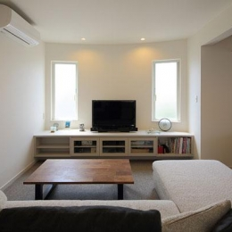 『M邸』4LDKから2世帯住宅へリノベーション (子世帯-明るいリビング)