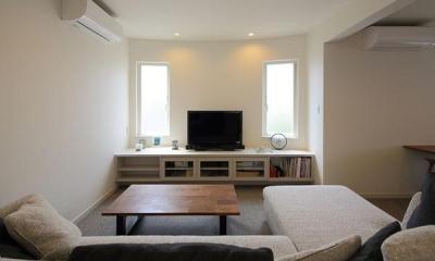 子世帯-明るいリビング|『M邸』4LDKから2世帯住宅へリノベーション