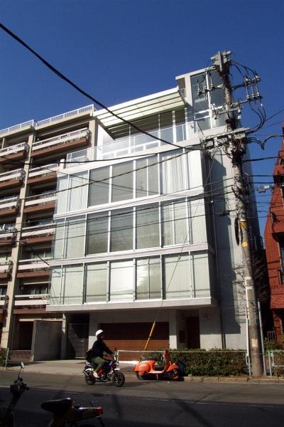 『北村邸』絵になる6階建て住宅 (6階建て住宅外観)