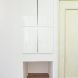 『埼玉県羽生市K邸』猫のための楽園♪賃貸リノベーション (猫のトイレ用品や餌の収納ボックス)