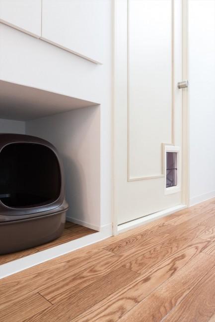 『埼玉県羽生市K邸』猫のための楽園♪賃貸リノベーションの部屋 各個室に猫扉