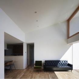 『5つのテラスの家』光と風を楽しむ住まい (明るい大空間LDK)