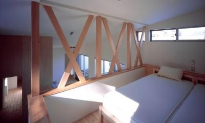 開放的なロフト寝室|『囲む家』様々な表情のある、楽しく温かな住まい